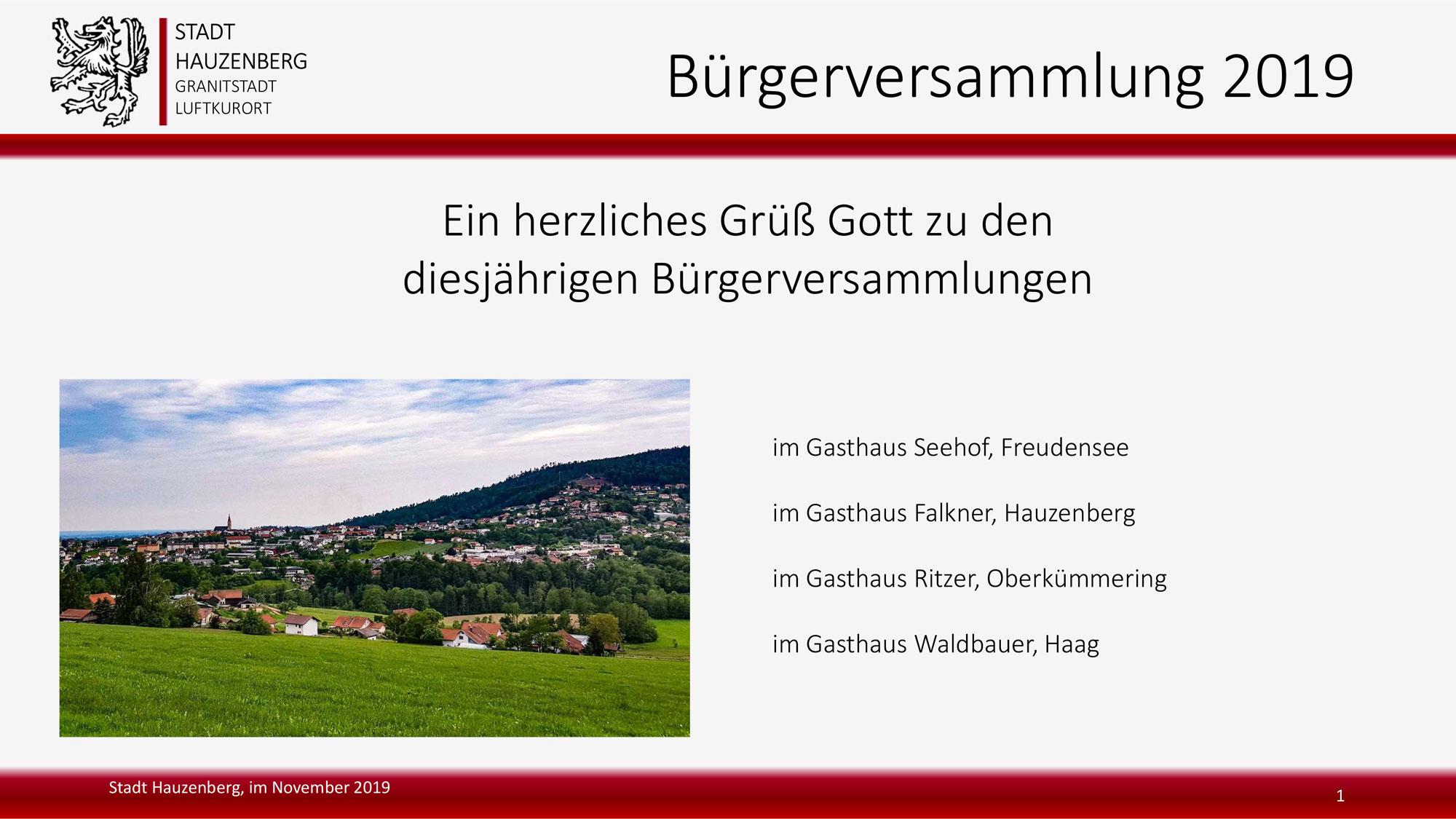 November = Bürgerversammlungen