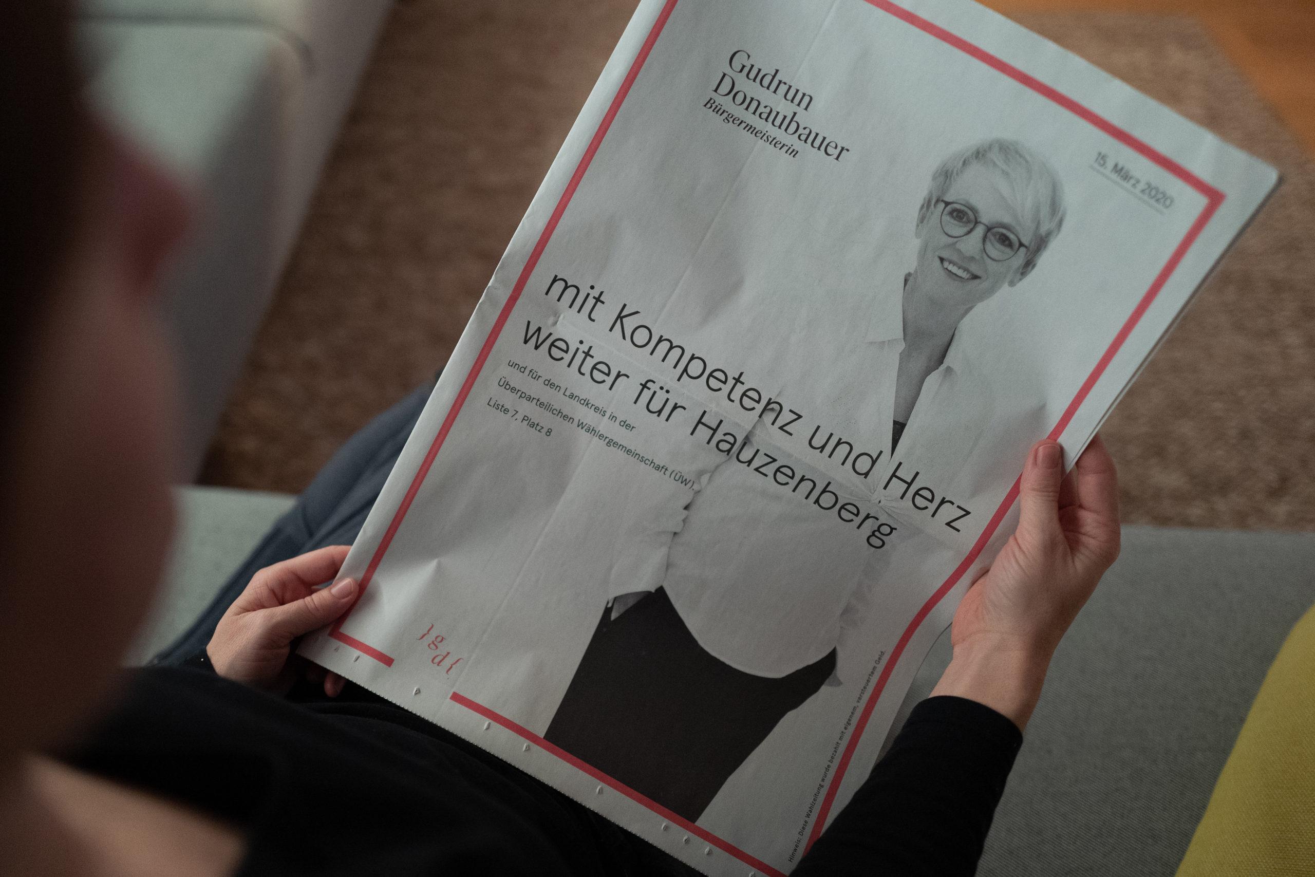 Meine Wahlinformation im Zeitungsformat